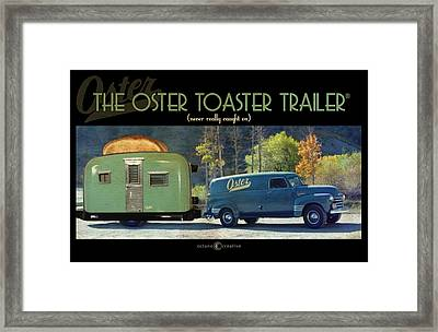 Oster Toaster Trailer Framed Print by Tim Nyberg