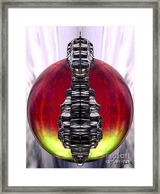 Otherworld - Fire Framed Print by Christopher Krieger