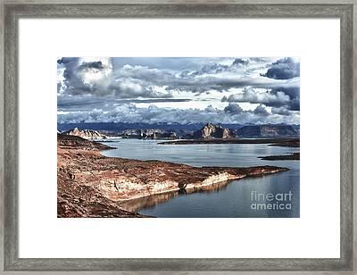 Otherworldly Morning At Lake Powell Framed Print by Sandra Bronstein