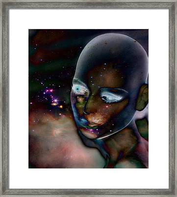 Otherworldly Vision Framed Print by Gothicolors Donna Snyder