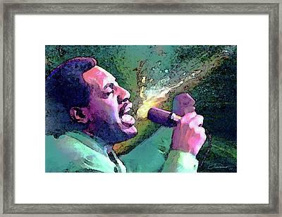 Otis Redding Framed Print by John Travisano