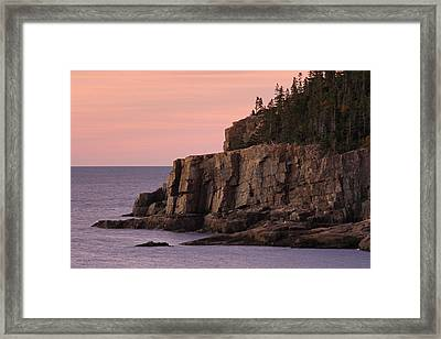 Otter Cliff At Dawn Framed Print by Juergen Roth