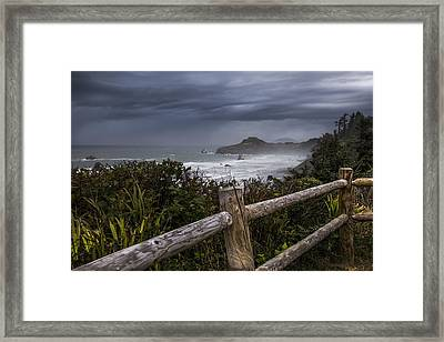 Otter Point Framed Print by Debra and Dave Vanderlaan