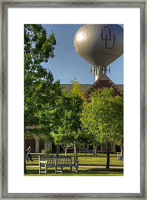 Ou Campus Framed Print by Ricky Barnard