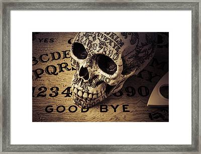Ouija Boards And Skull 2 Framed Print by Garry Gay