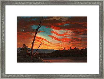 Our Banner In The Sky Framed Print by War Is Hell Store