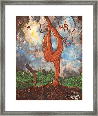 Our Dance With Nature Framed Print by Stefan Duncan