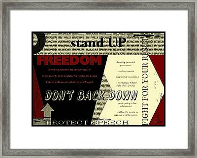 Our Duty Framed Print by ABA Studio Designs