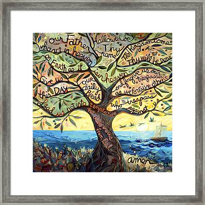 Our Father Framed Print by Jen Norton