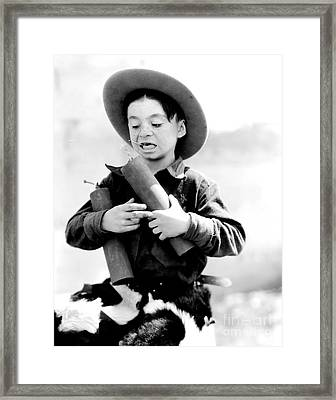 Our Gang Kids - Alfalfa - Little Rascals Framed Print by MMG Archive Prints