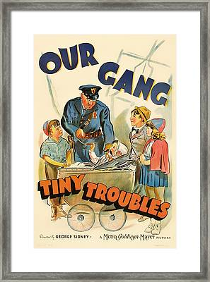 Our Gang Vintage Movie Poster 1930s Framed Print by Mountain Dreams