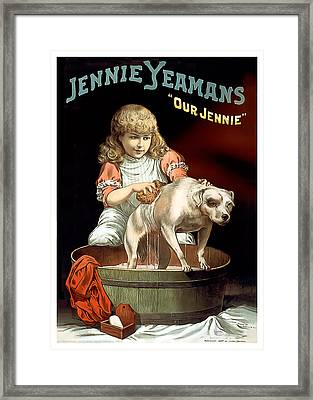 Our Jennie Framed Print by Terry Reynoldson
