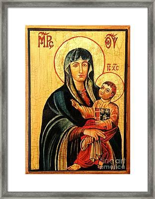 Our Lady Of Cieszyn Icon Framed Print by Ryszard Sleczka
