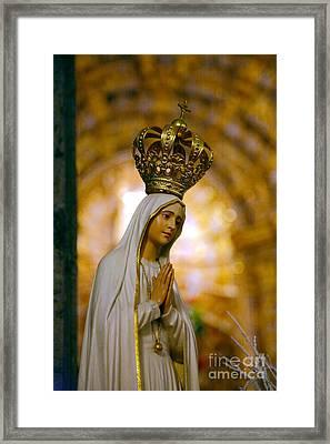 Our Lady Of Fatima Framed Print by Gaspar Avila