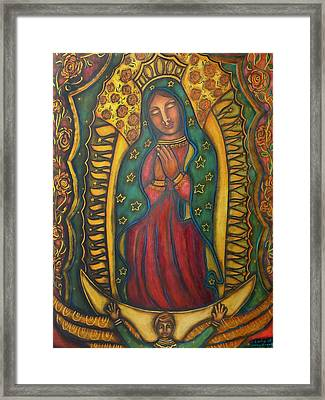 Our Lady Of Glistening Grace Framed Print by Marie Howell Gallery