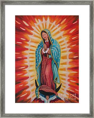 Our Lady Of Guadalupe Framed Print by Lora Duguay