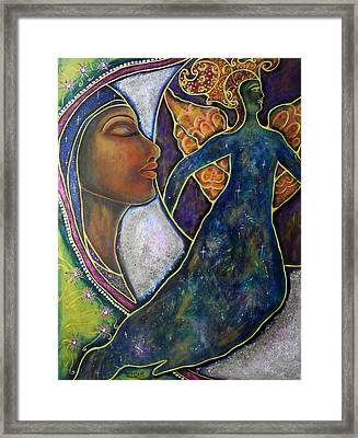 Our Lady Of Moonlit Mysteries Framed Print by Marie Howell Gallery
