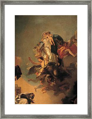 Our Lady Of Mount Carmel  Framed Print by Tiepolo Giambattista