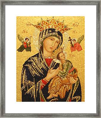 Our Lady Of Perpetual Help  Framed Print by Philip Ralley
