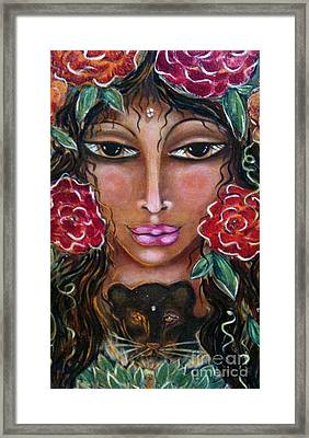 Our Lady Of The Lion Heart Framed Print by Maya Telford
