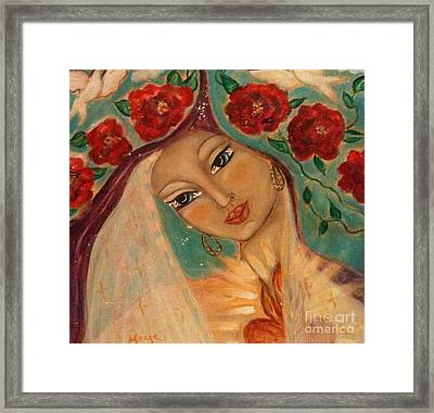 Our Lady Of The Sacred Heart Framed Print by Maya Telford