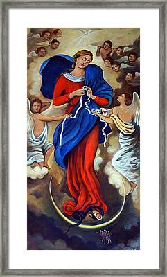 Our Lady Undoer Of Knots Framed Print by Valerie Vescovi