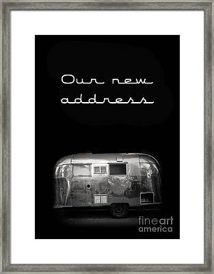 Our New Address Announcement Card Framed Print by Edward Fielding