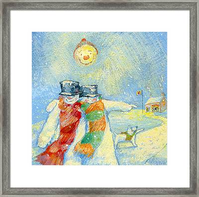 Our Night Out Framed Print by David Cooke