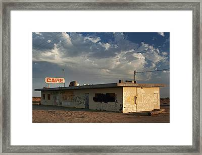 Our Old Cafe Framed Print by Laurie Search