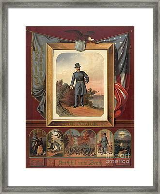 Our Police - Faithful Unto Death 1879 Framed Print by Padre Art