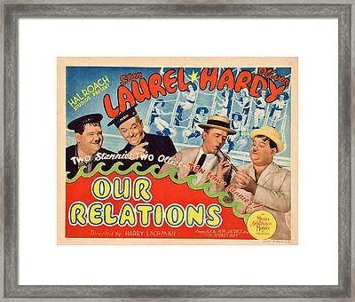 Our Relations, Us Lobbycard, Oliver Framed Print by Everett