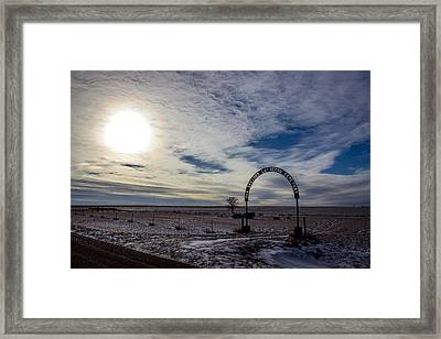 Our Savior's Lutheran Cemetary Framed Print by Chad Rowe