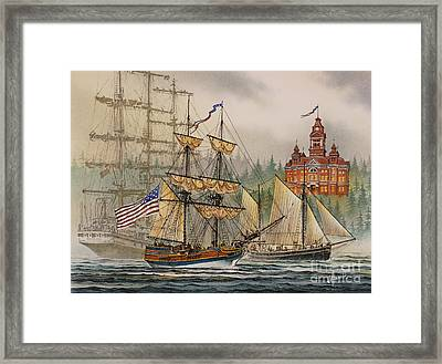 Our Seafaring Heritage Framed Print by James Williamson