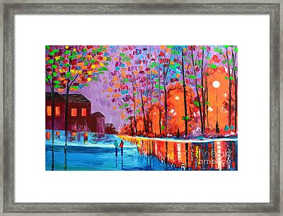 Our Town Framed Print by Mariana Stauffer