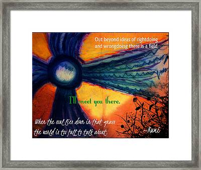 Out Beyond Ideas Framed Print by Catherine McCoy