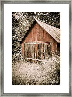 Out By The Woodshed Framed Print by Edward Fielding