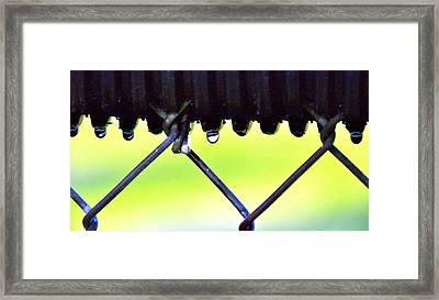 Out Field Fence Framed Print by Jeffrey J Nagy