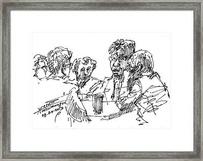 Out For A Coffee 3 Framed Print by Ylli Haruni