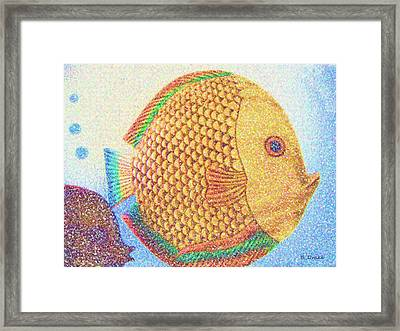 Out For A Sunday Swim Framed Print by Barbara Drake