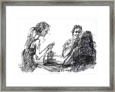 Out For A Tea Framed Print by Ylli Haruni
