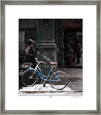 Out For An Ice Ride Framed Print by Lar Matre