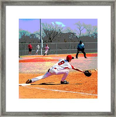 Out Framed Print by Linda Cox