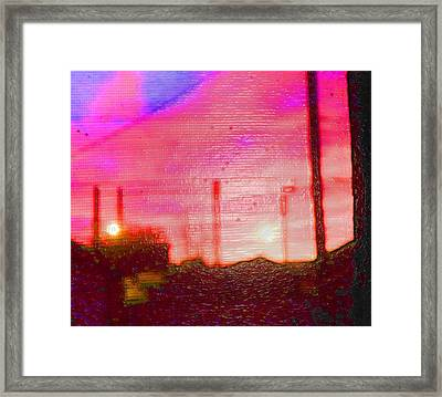Out My Back Window 6 Am V3 Framed Print by Lenore Senior