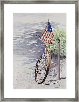 Out Of Air Framed Print by Martha Shilliday