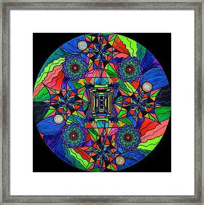 Out Of Body Activation Grid Framed Print by Teal Eye  Print Store