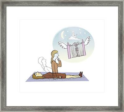 Out-of-body State, Conceptual Artwork Framed Print by Science Photo Library