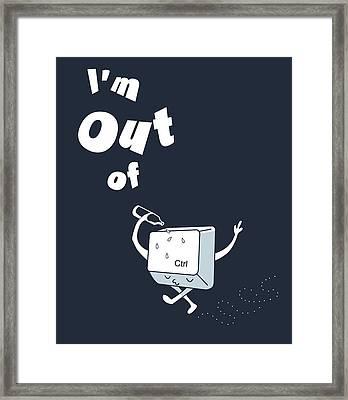 Out Of Ctrl Framed Print by Neelanjana  Bandyopadhyay
