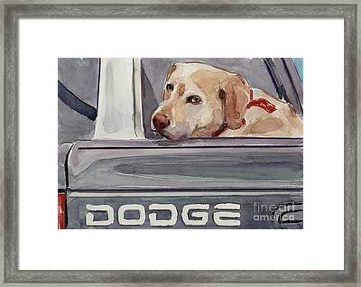 Out Of Dodge Framed Print by Molly Poole