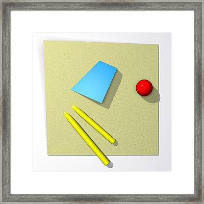 Out Of Square Framed Print by Richard Rizzo