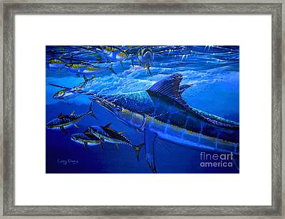 Out Of The Blue Framed Print by Carey Chen